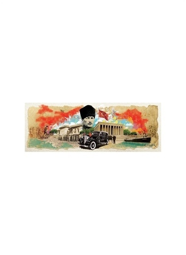 Art Puzzle Art Puzzle Panorama Atatürk Kolajı 1000 Parça Puzzle Renksiz